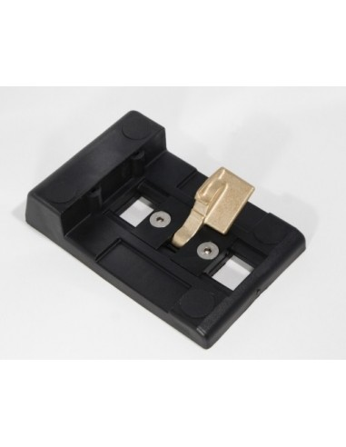Sabot de portail noir en polyamide rectangulaire