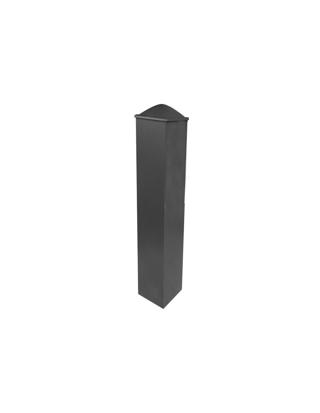 Poteau pilier de portail aluminium 105x105 sur mesure ou - Poteau aluminium pour cloture ...