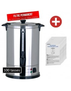 Pack percolateur 100 tasses et détartrant machine à café