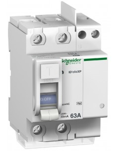 Interrupteur Différentiel ID CLICXP 2P 63A 30MA AC peignable