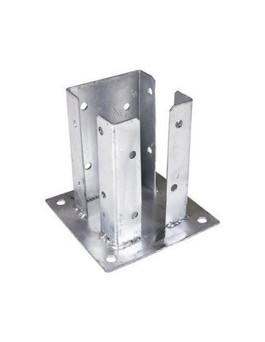 Platine acier pour pilier de portail alu 105x105 - Poteau alu pour portail ...