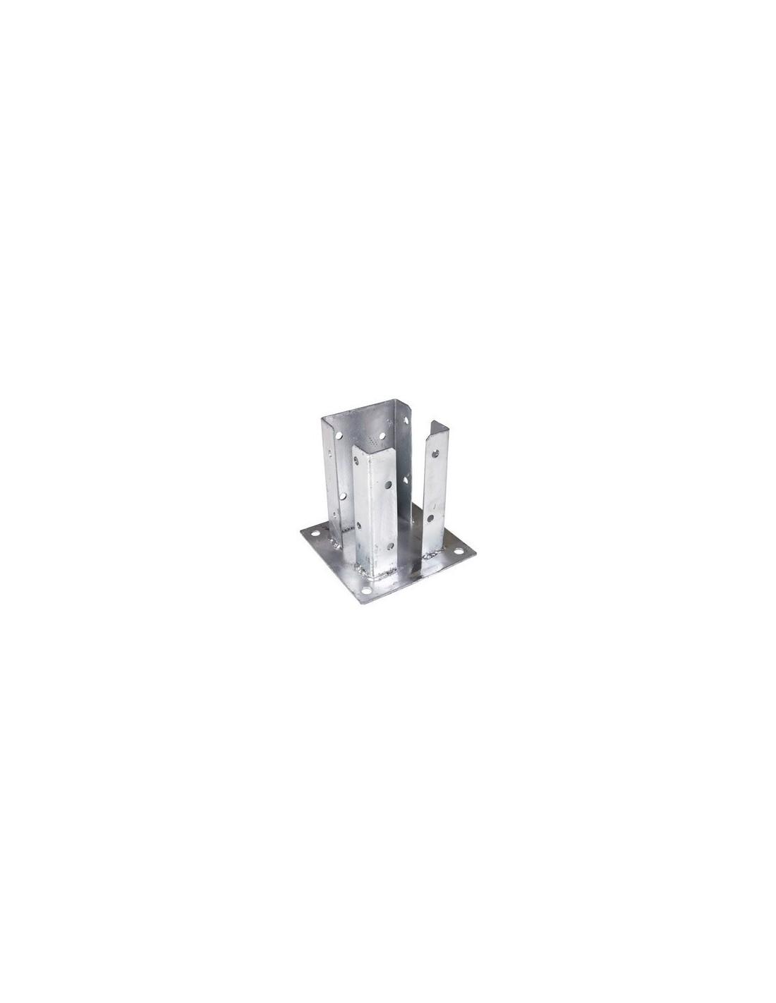 platine acier pour pilier de portail alu 105x105. Black Bedroom Furniture Sets. Home Design Ideas