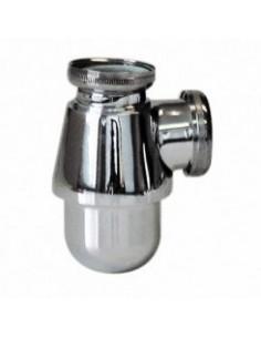 Siphon de lavabo a tube plongeur non reglable - laiton