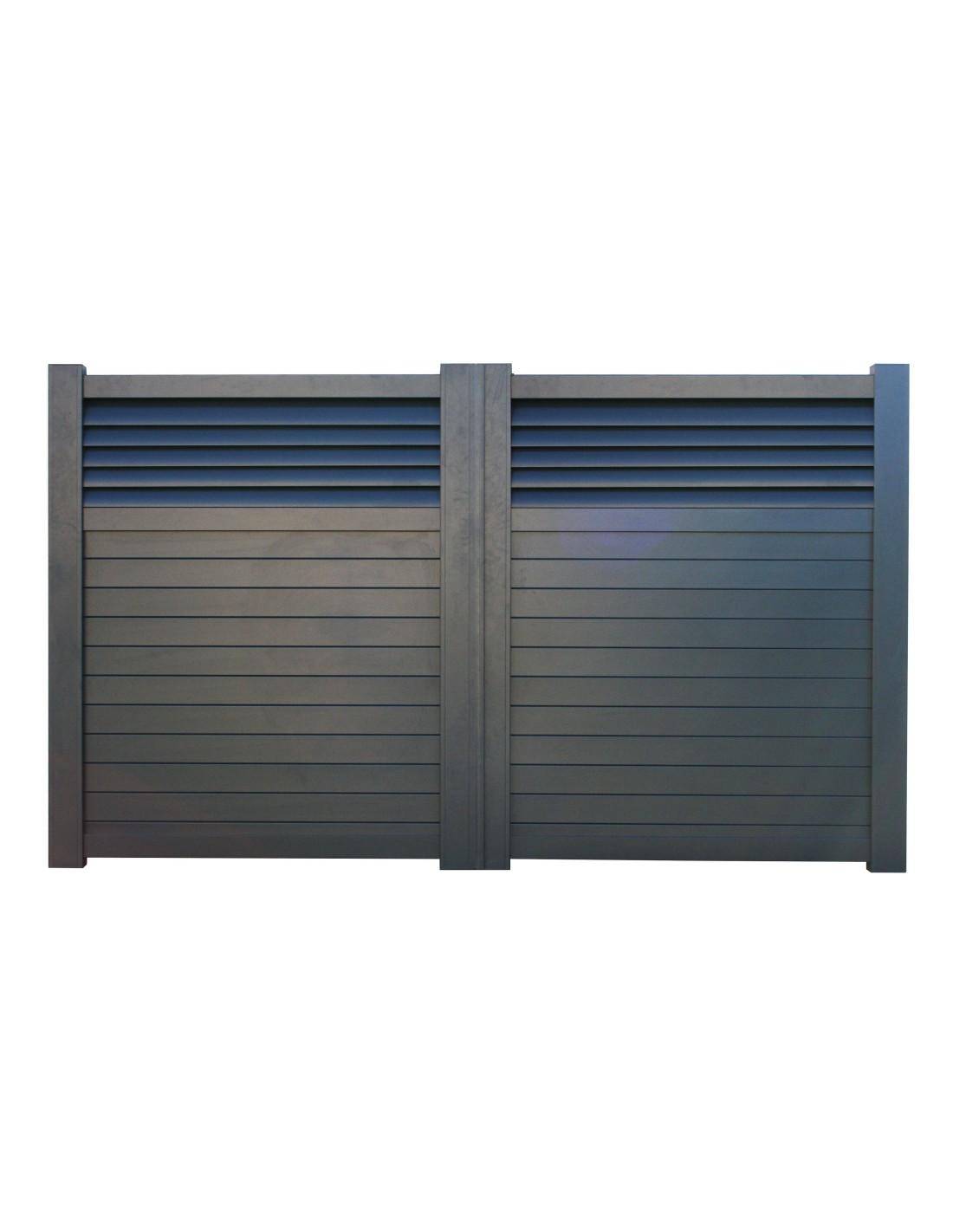 Portail aluminium battant motoris justina 3 50m x1 80 ebay - Portail 3 50m ...