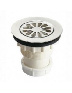 Bonde siphoide plastique pour evier ou receveur de douche