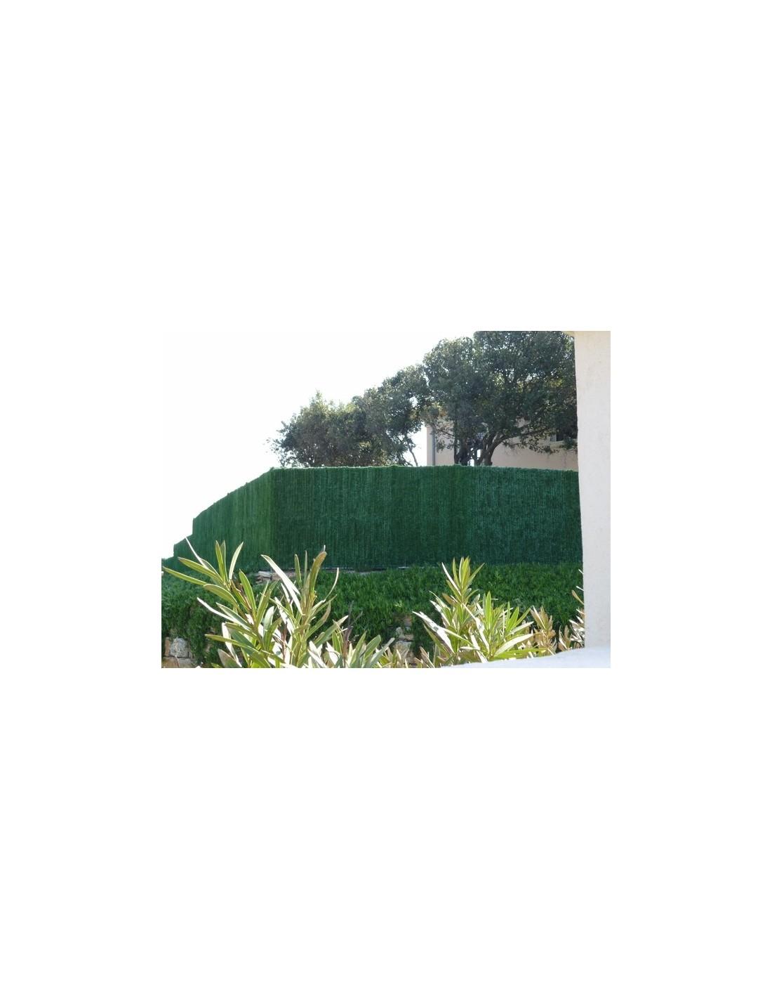 Haie artificielle synthétique SUPRA vert thuyas Lg 3 m 126 brins