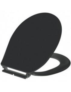 Abattant double thermoplastique noir - rh