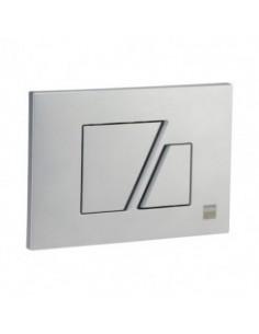 Plaque de commande milano chrome mat pour bati nicoll
