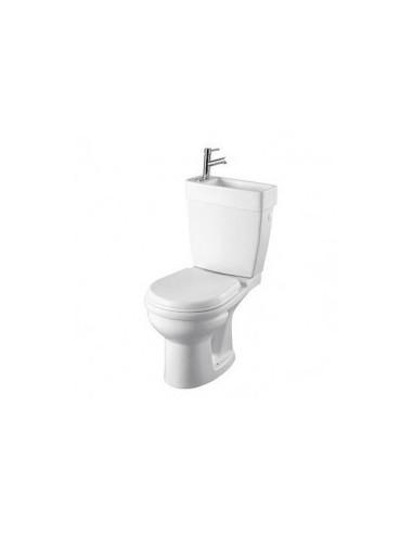 pack wc gain de place double commande avec lave mains. Black Bedroom Furniture Sets. Home Design Ideas