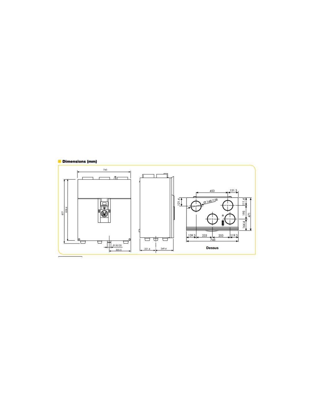 Kit vmc double flux ideo 325 tr s haut rendement ecowatt for Vmc double flux haut rendement