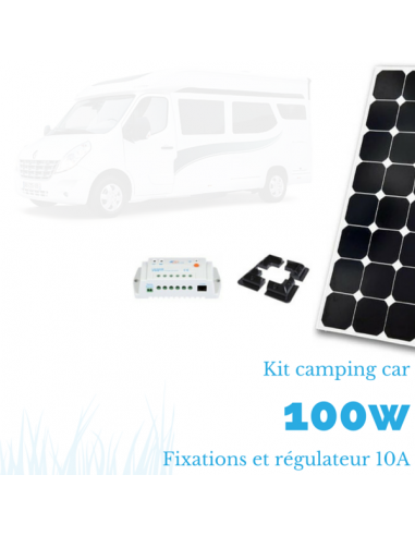Kit solaire camping car 100 W complet 12 V