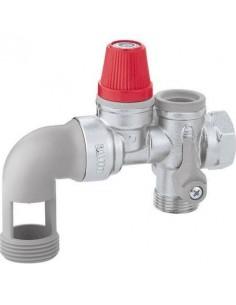 Groupe de sécurité 3/4 20x27 coudé GS20C THERMADOR pour chauffe eau horizontal