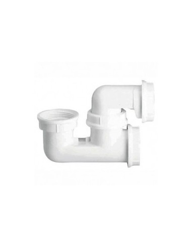 siphon de baignoire plastique blanc avec bouchon de visite nicoll. Black Bedroom Furniture Sets. Home Design Ideas