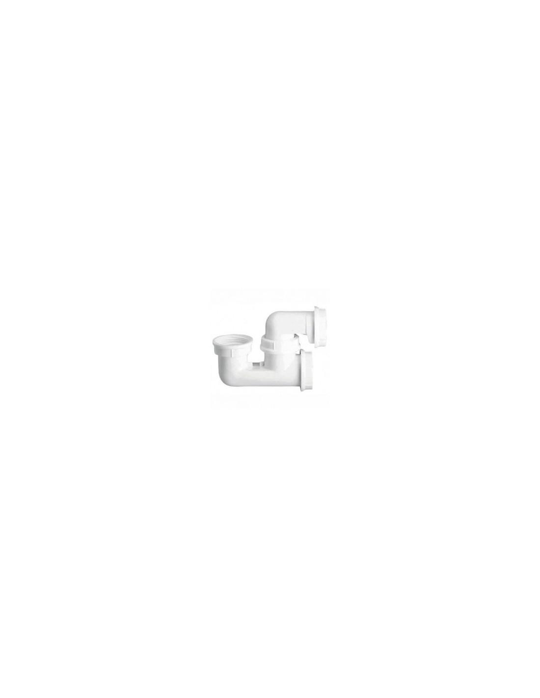 siphon de baignoire plastique blanc avec bouchon de visite nicoll. Black Bedroom Furniture Sets. Home Design Ideas