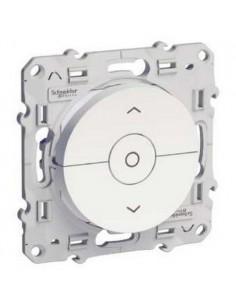 interrupteur volet-roulant Blanc 3 boutons montée/descente/stop à vis Odace,