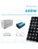 Kit solaire 100W , batterie 100 Ah, 500w sinus