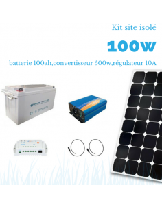 Kit solaire 100w , batterie 100 ah, 1000w sinus