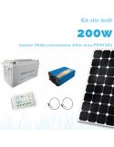 Kit solaire 200W , batterie 100 Ah, 500w sinus