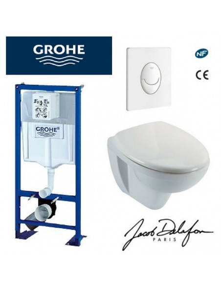 Tuyaux bati wc suspendu grohe prix dimension - Habillage wc suspendu grohe ...