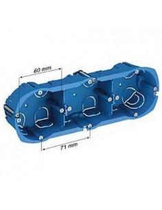 Boitier cloison sèche 3 postes Diam 67, prof 40 mm schneider