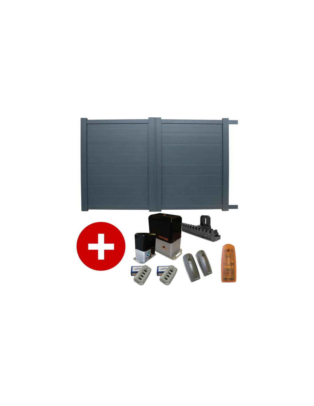 portail aluminium coulissant motoris elise 3 50m x1 80 ebay. Black Bedroom Furniture Sets. Home Design Ideas