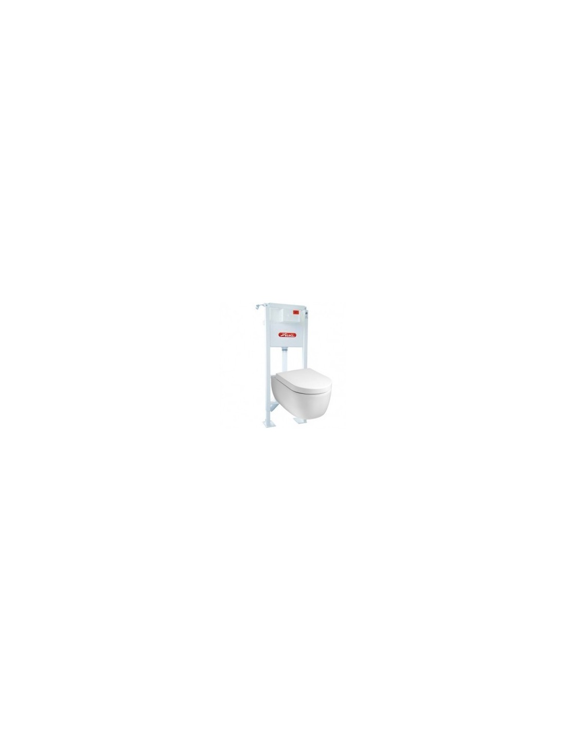 Pack wc suspendu universel nicoll avec cuvette design brico - Cuvette wc suspendu design ...