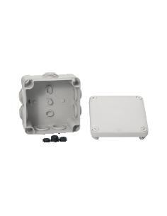 Boite de dérivation carré étanche 105x105 schneider 7 EMBOUTS