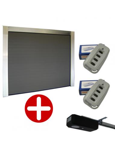 Porte de garage sectionnelle 40mm blanche motorisée