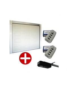 Porte de garage sectionnelle à cassette 40mm blanche e motorisée