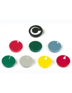 Lid for 36mm button (red - white line)