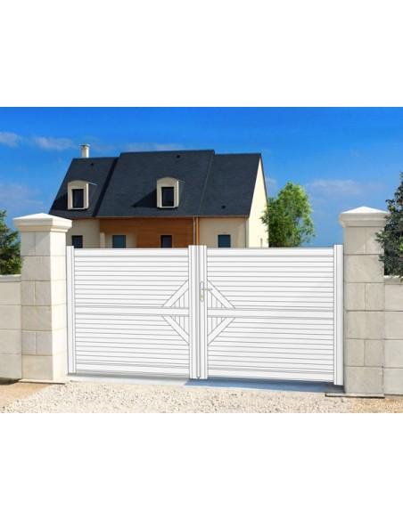 Portail battant plein en aluminium : Portail & Cloture