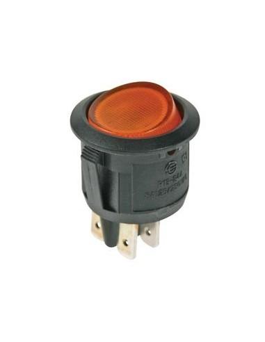 Interrupteur à bascule illuminé - ambré - dpst/on-off