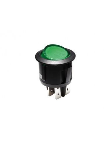 Interrupteur à bascule illuminé - vert - dpst/on-off