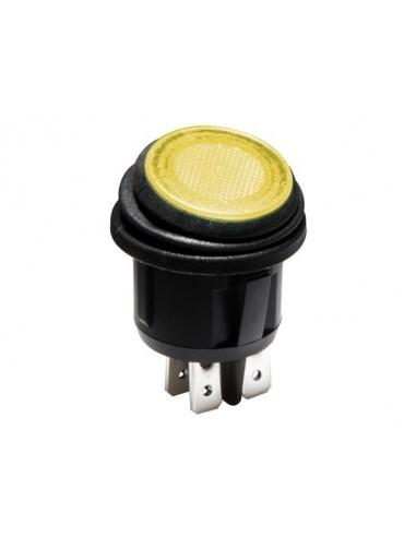 Interrupteur à bascule illuminé - led orange 12 v - 2p dpst / on-off