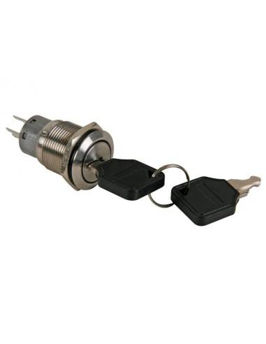 Interrupteur bipolaire avec clé à pompe 2 no 2 nc - acier inoxydable - 19mm