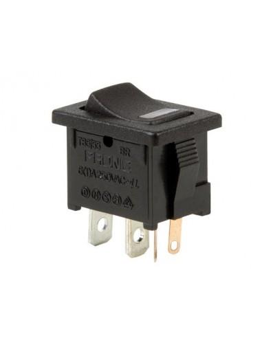 Interrupteur de puissance a bascule 5a-250v spst on-off - avec led rouge