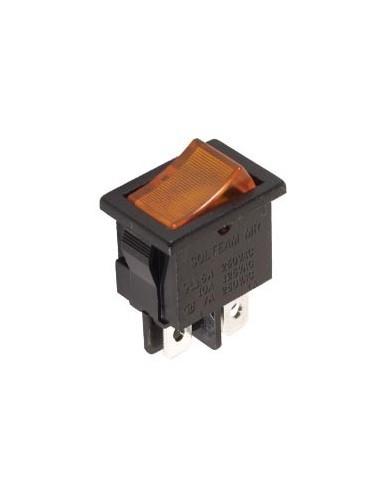Interrupteur de puissance a bascule 3a-250v dpst on-off - avec temoin neon orange