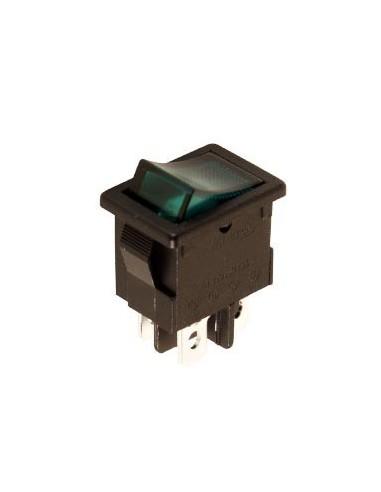 Interrupteur de puissance a bascule 3a-250v dpst on-off - avec temoin neon vert