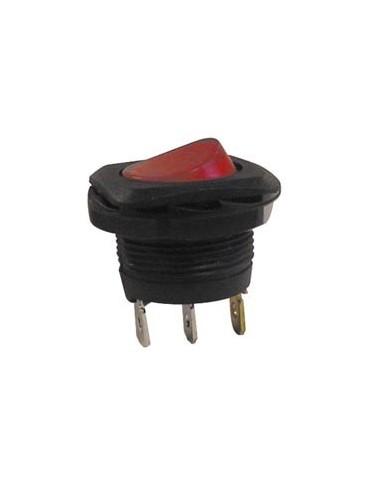 Interrupteur de puissance a bascule 5a-250v spst on-off - avec temoin neon rouge