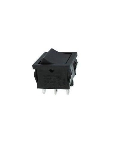 Interrupteur de puissance a bascule 5a-250v dpdt on-on - noir