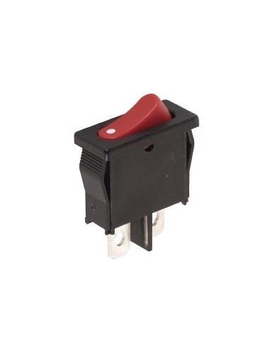 Interrupteur de puissance a bascule 6a-250v spst on-off - capuchon rouge