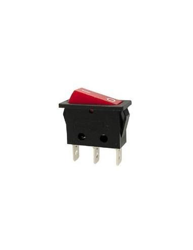 Interrupteur de puissance a bascule 10a-250v spst on-off - avec temoin neon rouge