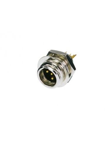 Rean tiny - connecteur mini xlr male - 4 pôles, nickelé, contacts dorés