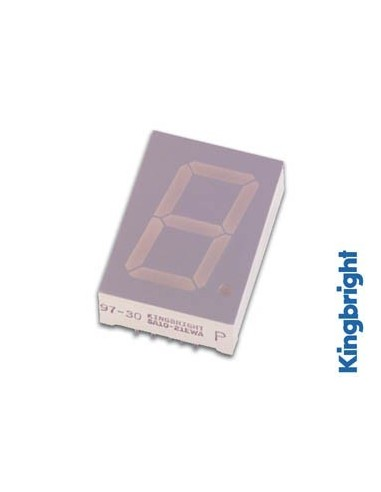 Afficheur 7 segments 25mm cathode commune - super vert