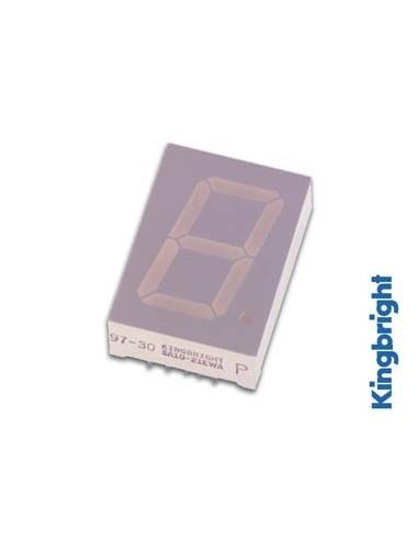 Afficheur 7 segments 25mm cathode commune - hyper rouge