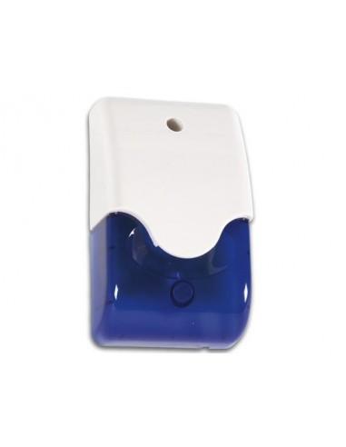 Sirène + stroboscope bleu en boîtier + led