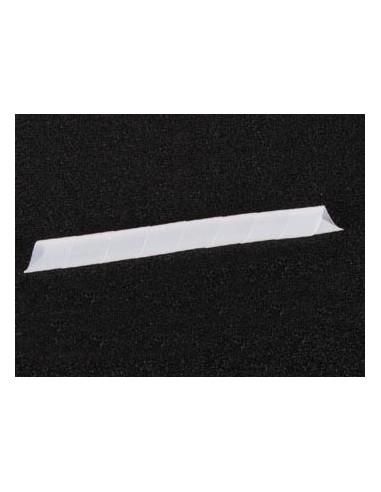 Gaine cache-fils spiralee 10m / ø15mm (blanc transparent)