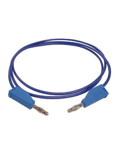 Cordons de mesure (fiche banane 4mm) / bleu - 3a/30v