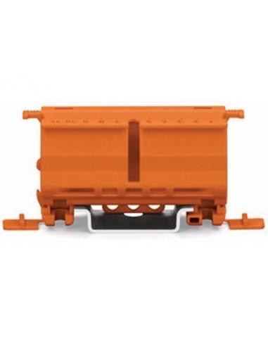Adaptateur de fixation pour connecteurs de 2 à 5 pôles, orange - 10 pièces