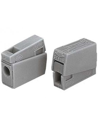 Borne pour luminaires, 2.5mm, 105°, gris - 100 pièces